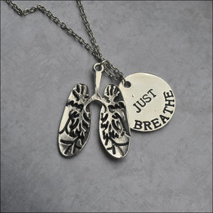 JUST BREATHE Charm Necklace